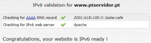 Suporte IPv6 na PTServidor
