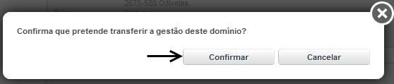 confirmar chave dominio .pt