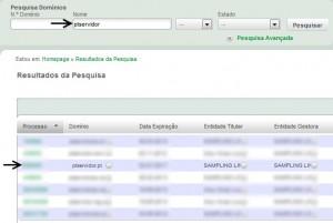 pesquisa dominio .pt